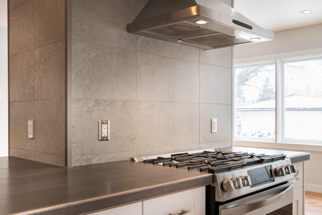 kitchen renovations tile counter and splash