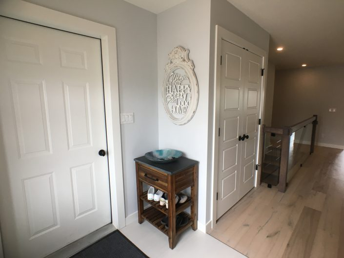 home renovations with bright entry