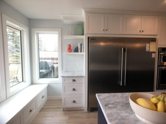 kitchen renovations with custom window bench