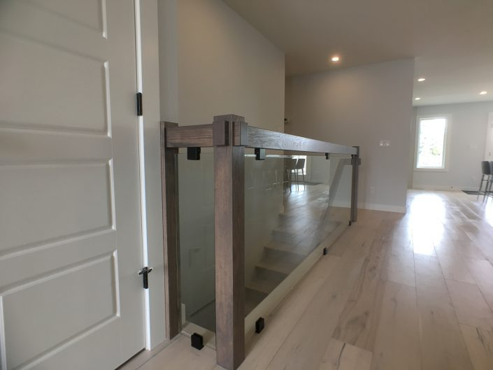 home renovations with custom railing and glass