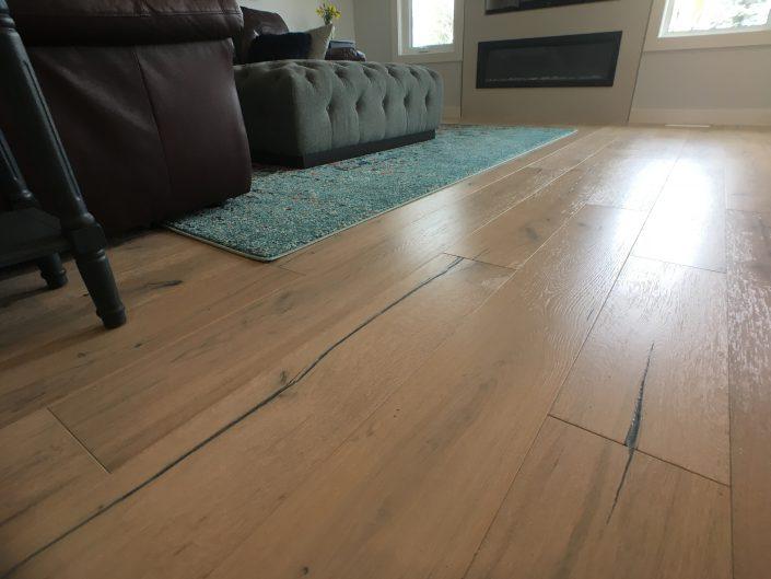 main floor renovations with light rustic hardwood floor