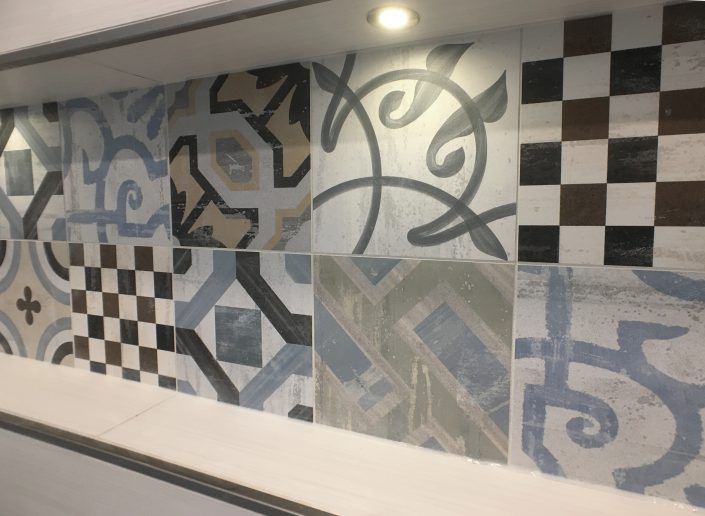 bathroom renovations custom lit shower niche