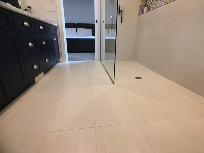 bathroom renovations custom tile floor and shower