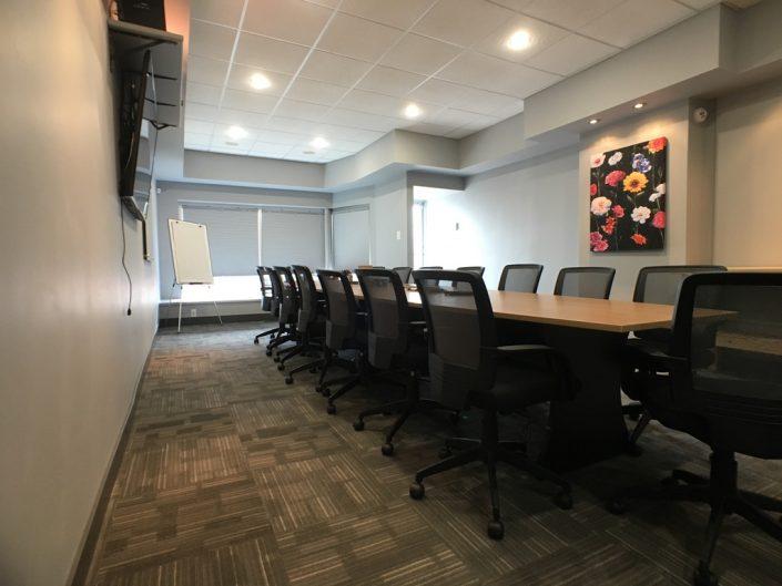 commercial renovations carpet tile grey walls