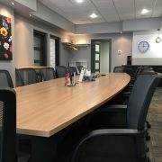 commercial renovations wood board room table