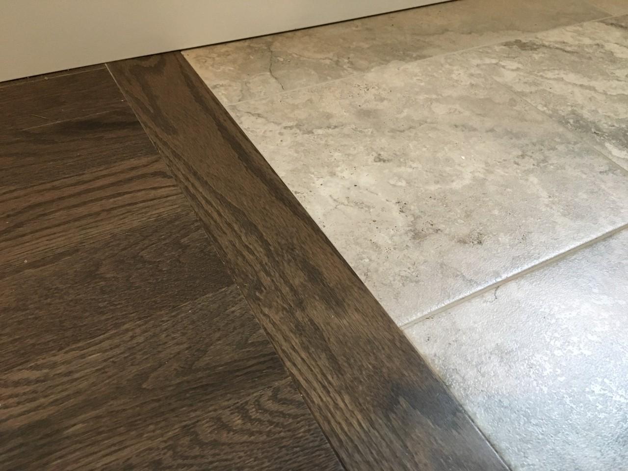 hardwood installation transition