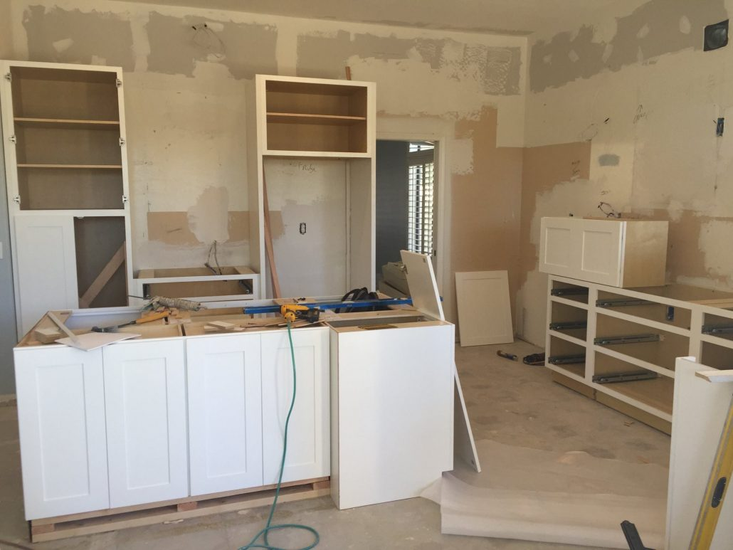 kitchen renovations under construction