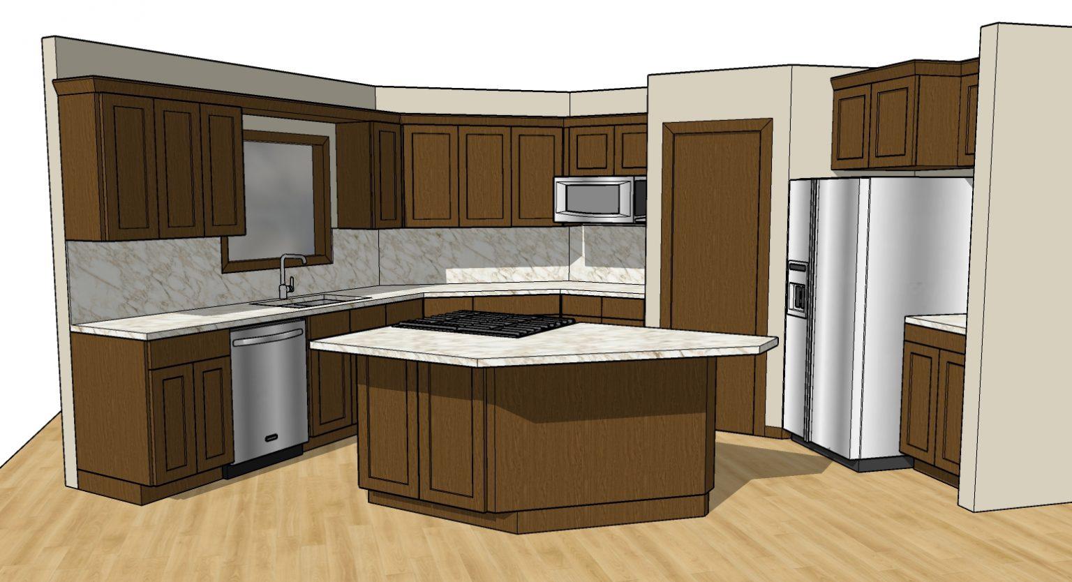 3d model interior design kitchen