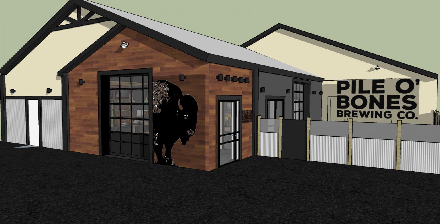 3d model design pub exterior design commercial