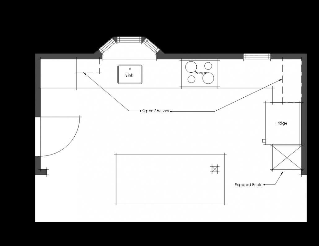 final floor plan for kitchen