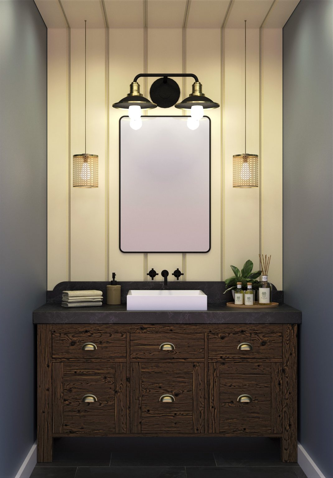 farmhouse vanity interior design regina